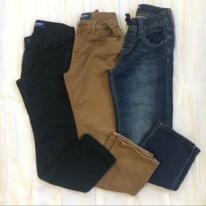 3 Pairs Boys Jeans Levi's Old Navy- Size 8R & 10R